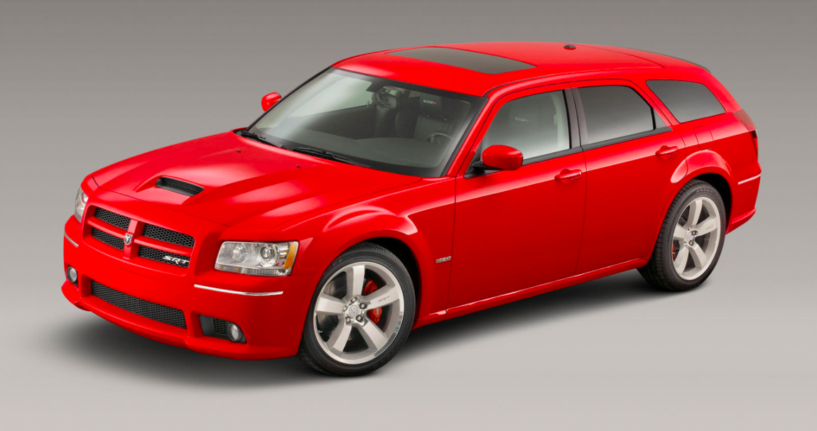 """<p>The Magnum wagon never really got a chance to shine before it was discontinued. Based on the Charger, it got a high-performance SRT version, but didn't live long enough to receive <a rel=""""nofollow"""" href=""""https://www.roadandtrack.com/new-cars/first-drives/a22747324/2019-dodge-challenger-srt-hellcat-redeye-first-drive/"""">a Hellcat variant</a>. A Hellcat wagon: How cool would that be?</p>"""