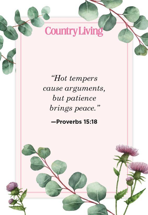 """<p>""""Hot tempers cause arguments, but patience brings peace.""""</p>"""