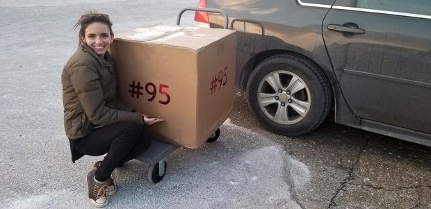 Shelby had participated in 95 gift exchanges, so Bill Gates decided to make the momentous occasion by labelling the box. Source: RedditGifts/szor