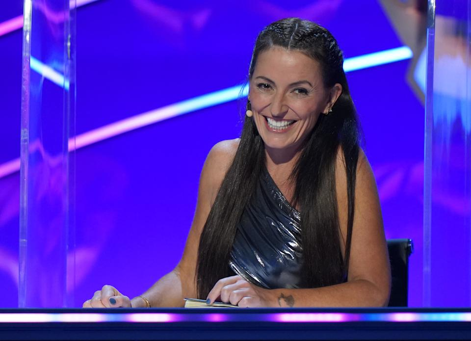 Davina McCall as a panellist on The Masked Singer (Bandicoot TV/ITV)
