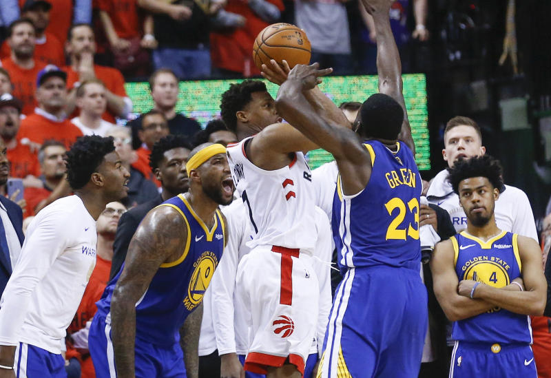 Kyle Lowry's chance to be a hero badly missed the target. (Getty)
