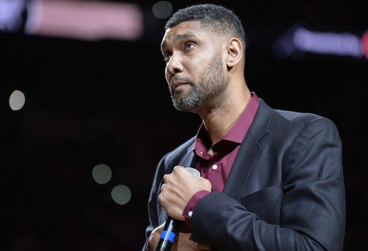Former Spurs great Tim Duncan. (AP)