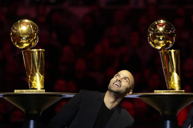 "It may one day be <a class=""link rapid-noclick-resp"" href=""/nba/teams/san-antonio/"" data-ylk=""slk:San Antonio Spurs"">San Antonio Spurs</a> owner Tony Parker. (AP)"