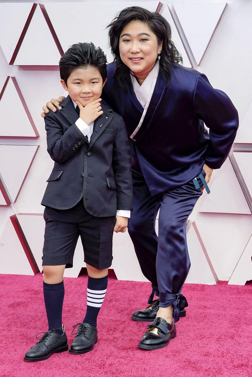 <p>The actor posed up a storm in Thom Browne on the red carpet and couldn't help but deliver his best Blue Steel impression on the red carpet. </p><p>The Minari star celebrated his 9th birthday two days before his red carpet moment. </p>