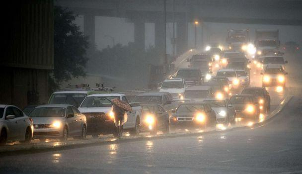 PHOTO: Traffic backs up as rain come down at Airline Drive and S. Carrollton Ave. in New Orleans, as severe thunderstorms cause street flooding, July 10, 2019. (Max Becherer/Times-Picayune & The Advocate via AP)