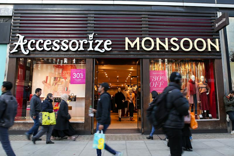 A branch of Accessorize Monsoon on Oxford Street. (Photo by Dinendra Haria / SOPA Images/Sipa USA)