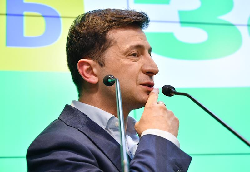 "Ukraine president-elect Volodymyr Zelensky (pictured April 21, 2019) said the move was ""clear confirmation for the world of Russia's real role as an aggressor state"" (AFP Photo/Genya SAVILOV)"