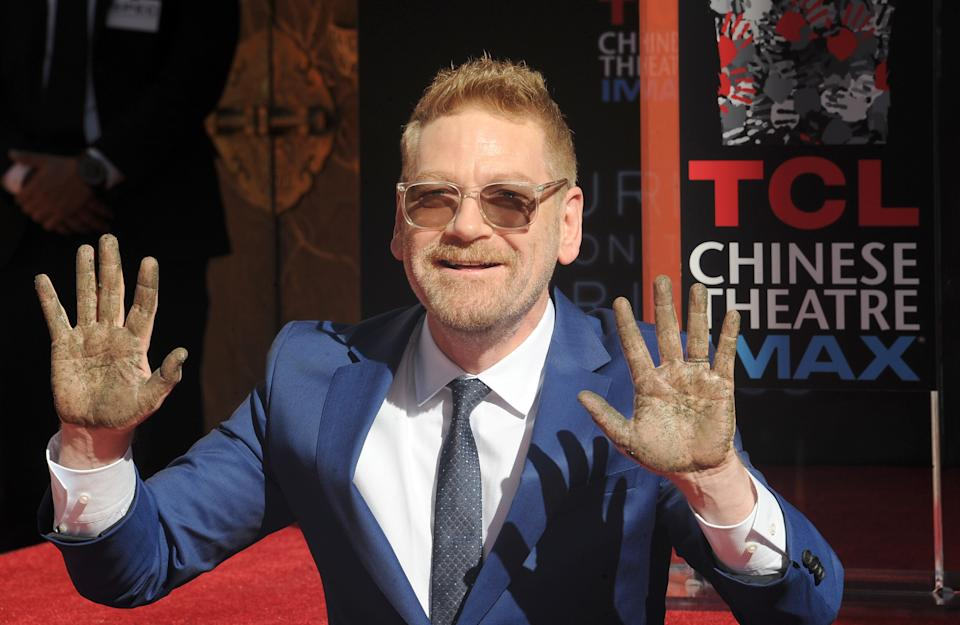 HOLLYWOOD, CA - OCTOBER 26: Actor/director Kenneth Branagh Hand And Footprint Ceremony held at TCL Chinese Theatre on October 26, 2017 in Hollywood, California. (Photo by Albert L. Ortega/Getty Images)