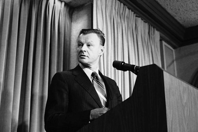 <p>National Security Affairs Adviser Zbigniew Brzezinski tells a Washington news briefing in Washington, Friday, May 11, 1979 that President Carter and Soviet President Leonid Brezhnev will meet from June 15 to 18 in Vienna to sign their new Salt II treaty. (Photo: Tasnadi/AP) </p>