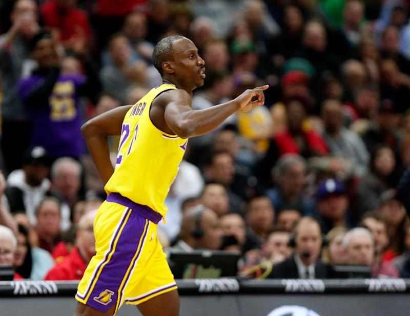 6c65156bd54 Los Angeles Lakers guard Andre Ingram heads to the other end of the court  during the