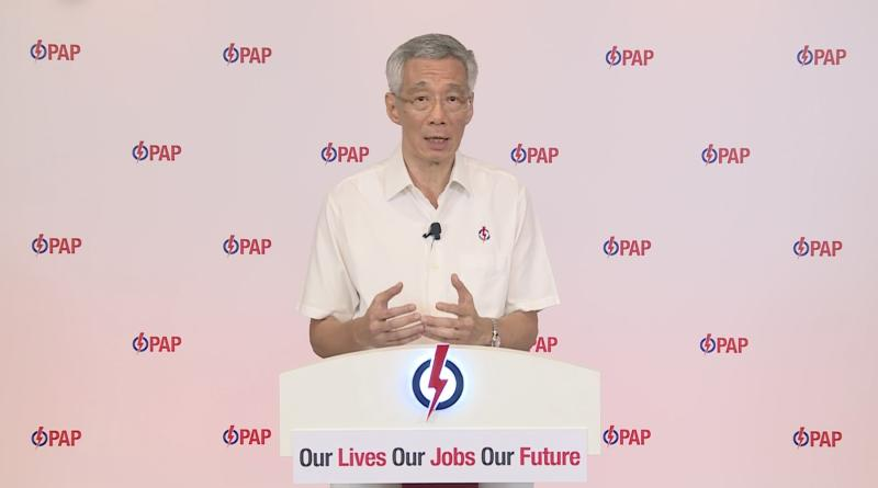 Prime Minister Lee Hsien Loong during the lunchtime e-rally on 6 July 2020. (PHOTO: Screenshot/Facebook)