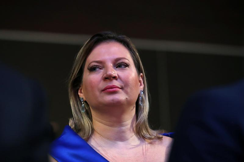 Brazilian Federal Deputy Joice Hasselmann is seen during a meeting of the LIDE (Businessmen Leaders Group) in Campos do Jordao, Brazil, April 5, 2019. REUTERS/Amanda Perobelli
