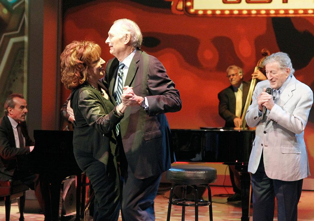 "Joy Behar, Alan Alda, and Tony Bennett on Joy's final episode as co-host of ABC's ""The View"" on Friday, August 9, 2013."