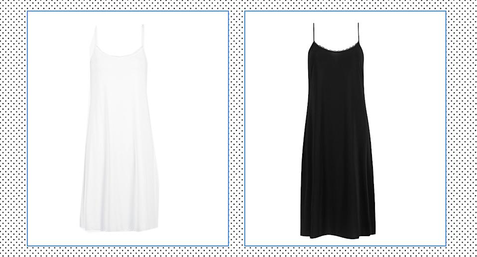 M&S is selling Cooling Slip dresses to wear under your summer dress this season - and it's our wardrobe essential.  (Yahoo Style)