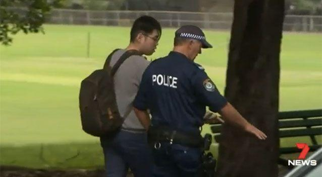 Mr Lee helped show police how he found his friend in the street. Picture: 7 News