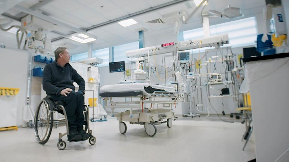 Frank Gardner returns to the intensive care unit where he was treated