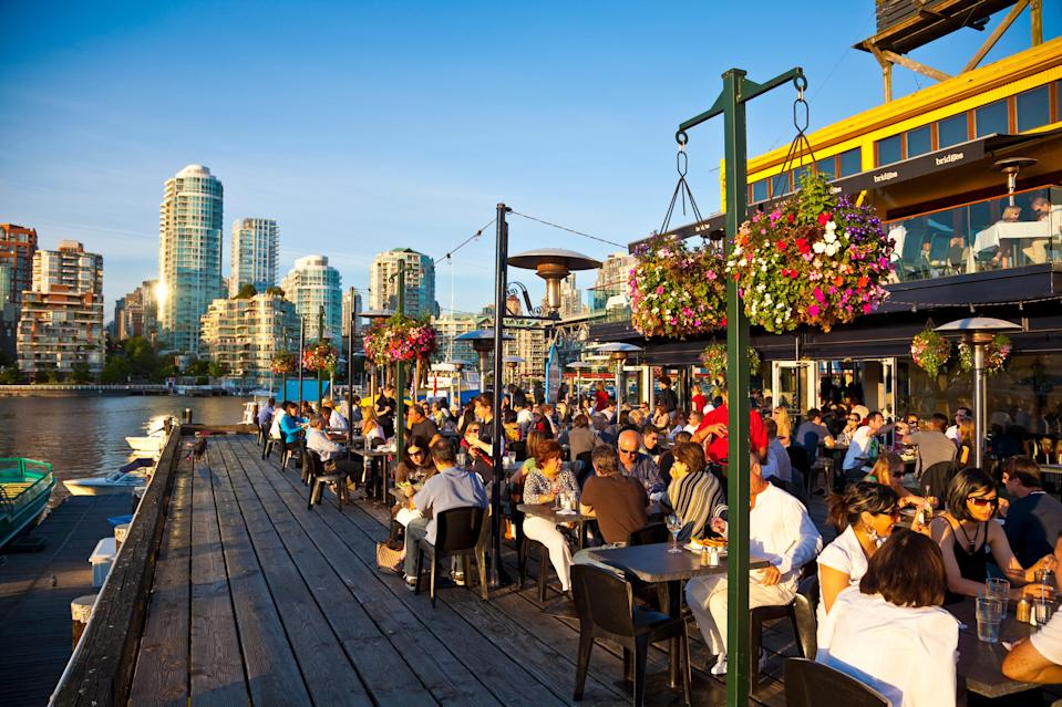 Dining on Granville Island - Credit: Getty