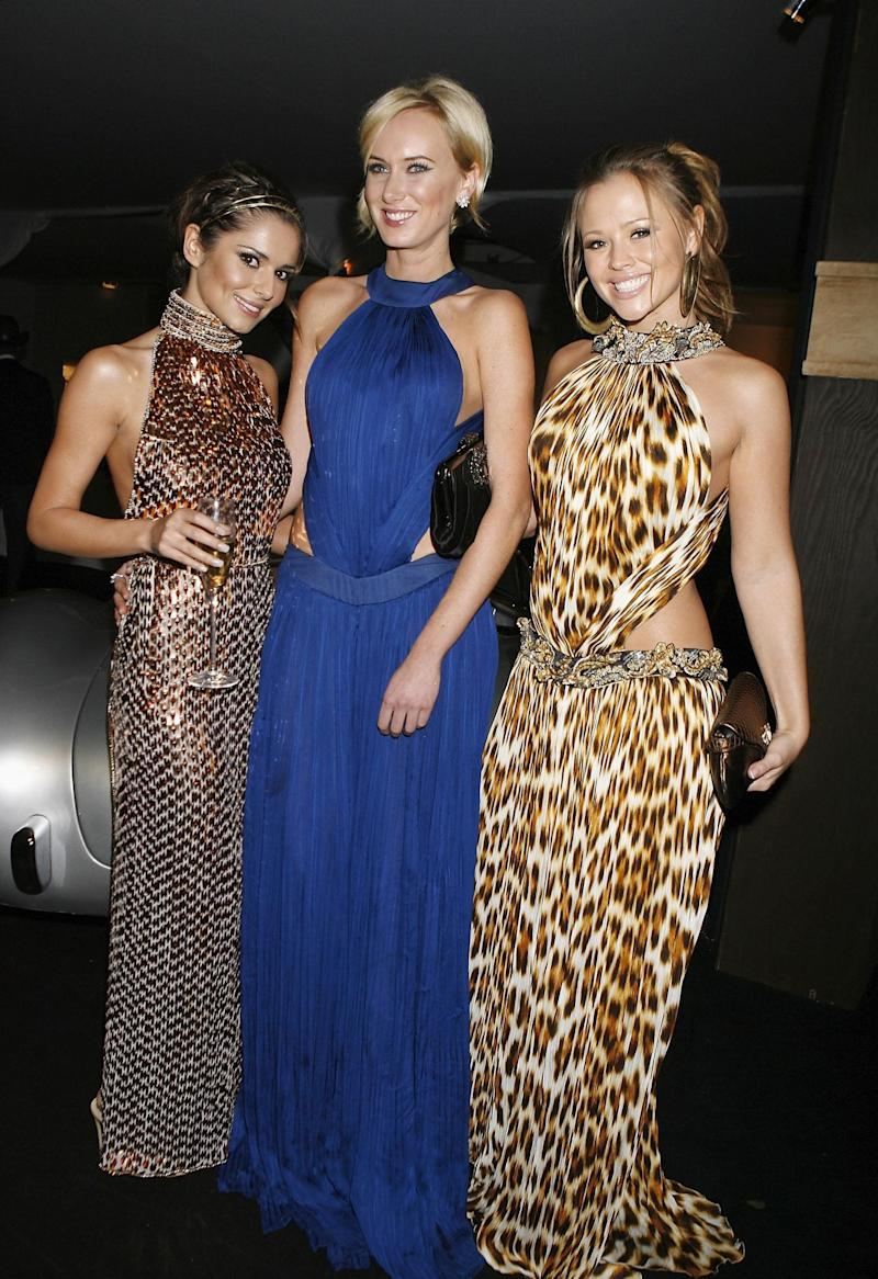 (From left to right) Cheryl Cole, Kimberley Stewart and Kimberley Walsh arrive for the Red Cross Ball at The Room by the River in south London.