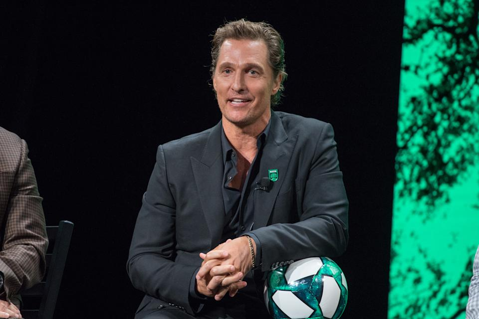 Matthew McConaughey is the latest celebrity to get involved in MLS ownership and promotion. (Photo by Rick Kern/Getty Images)