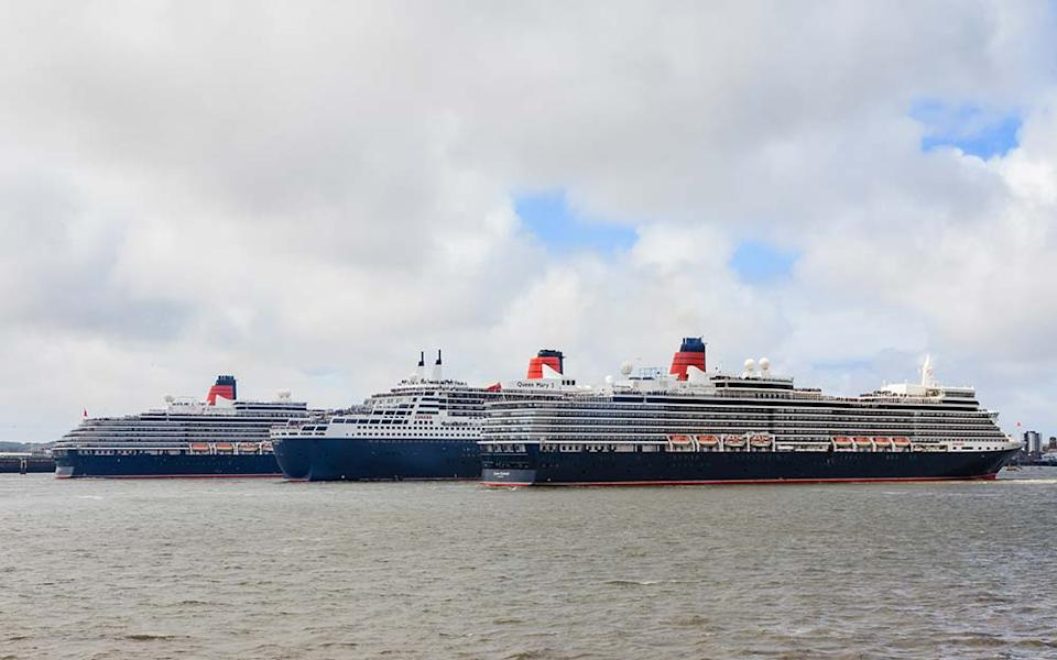 The three Queens that make up Cunard's fleet - ANDREW GOSLING