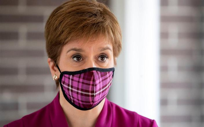 Nicola Sturgeon has extended a ban on household visits to two more areas of Scotland - PA