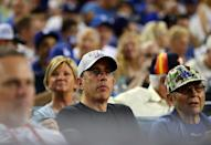 <p>LOS ANGELES, CA – OCTOBER 24: Comedian Jerry Seinfeld is seen during Game 1 of the 2017 World Series between the Houston Astros and the Los Angeles Dodgers at Dodger Stadium on Tuesday, October 24, 2017 in Los Angeles, California. (Photo by Alex Trautwig/MLB Photos via Getty Images) *** Local Caption *** </p>