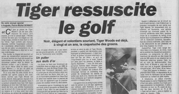 Golf - Masters 97 - Retro 1997 : Tiger ressuscite le golf