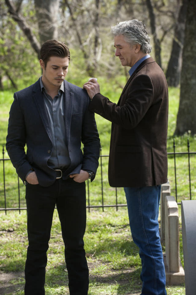 "Josh Henderson and Patrick Duffy in the ""Dallas"" Season 2 episode, ""Legacies."""