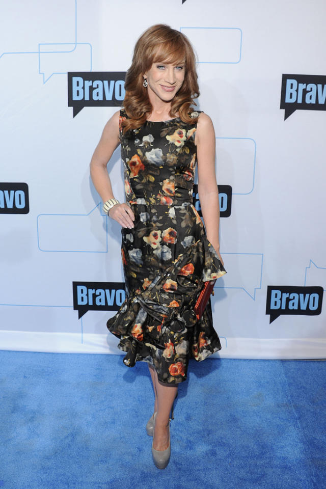 Kathy Griffith attends Bravo's 2012 Upfront Event at Center 548 on April 4, 2012 in New York City.