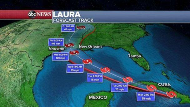 PHOTO: Threats with Laura will include damaging winds, deadly storm surge and flooding rain. (ABC News)