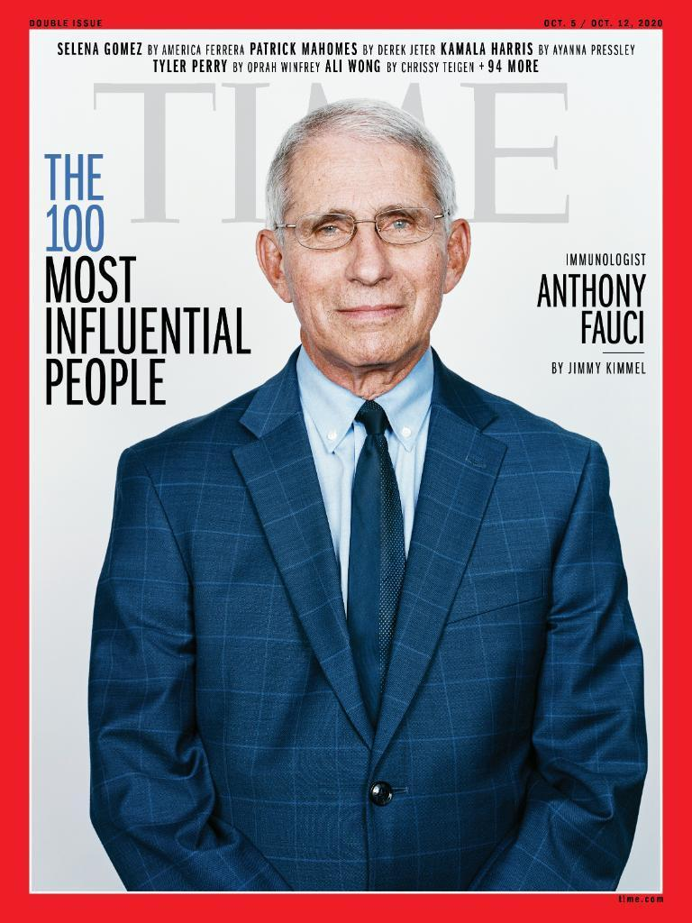 Dr. Anthony Fauci made the Time 100 list of most influential people.