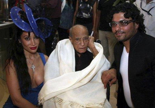 A.K. Hangal (centre) appeared in more than 200 films