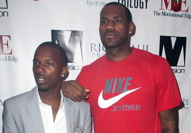 Rich Paul (left) and his most famous client, LeBron James. (Getty)