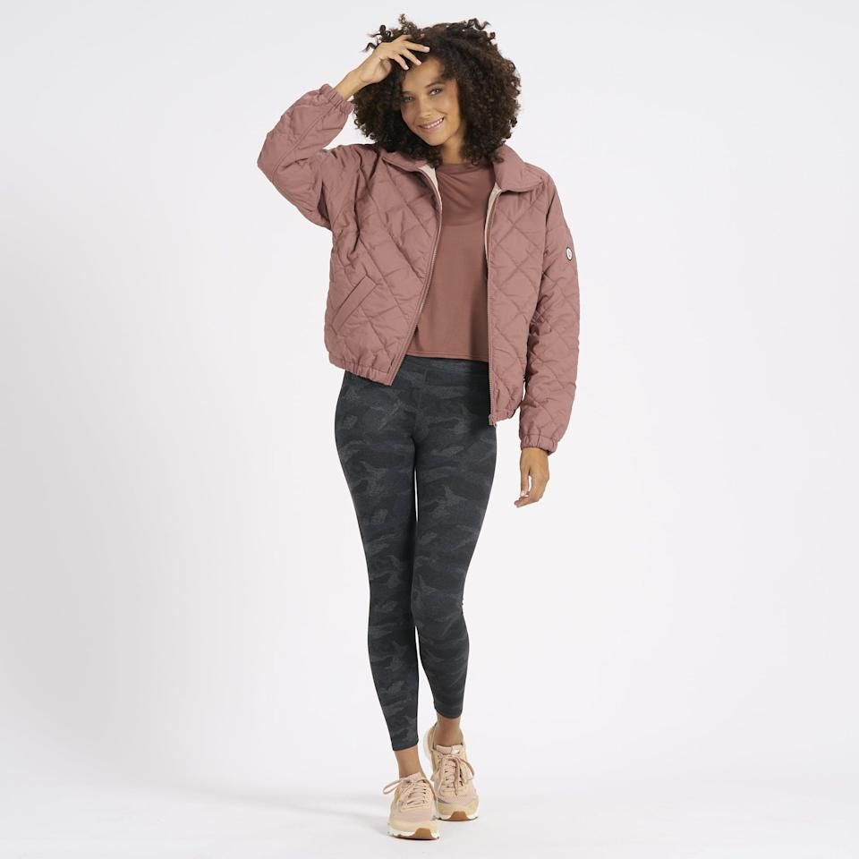 """<p>""""Vuori is my go-to brand for comfortable activewear and athleisure gear. I've basically spent the last 12 months living in the <a href=""""https://www.popsugar.com/fitness/photo-gallery/47355713/image/47363220/Vuori-Performance-Jogger"""" class=""""link rapid-noclick-resp"""" rel=""""nofollow noopener"""" target=""""_blank"""" data-ylk=""""slk:Performance Jogger"""">Performance Jogger</a>, which is one of the most comfortable pants I own (and would make an excellent <a class=""""link rapid-noclick-resp"""" href=""""https://www.popsugar.com/Mother%E2%80%99s-Day"""" rel=""""nofollow noopener"""" target=""""_blank"""" data-ylk=""""slk:Mother's Day"""">Mother's Day</a> gift for the mom who likes to stay cozy!). The brand recently sent me its <span>Echo Insulated Bomber</span> ($168), and I have been wearing it daily. Designed for the elements with water-resistant insulation and pockets, it is the perfect jacket for late spring walks and hikes. It's also pulling double duty as the perfect outer layer for outdoor dining."""" - Genevieve Farrell, director, Fitness and Wellness Video</p>"""