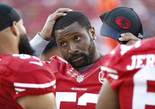 San Francisco 49ers inside linebacker NaVorro Bowman was released Friday, per his request. (AP)