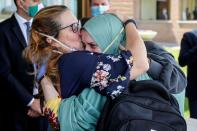 Freed Italian aid worker Silvia Romano arrives at Ciampino military airport in Rome