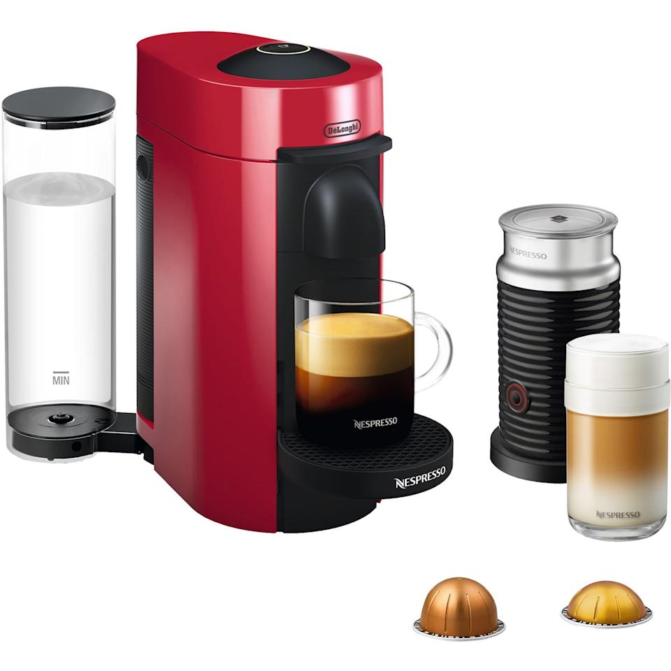 "<p>Coffee-lovers will swoon over this <product href=""https://www.walmart.com/ip/Nespresso-VertuoPlus-Coffee-and-Espresso-Maker-Bundle-with-Aeroccino-Milk-Frother-by-De-Longhi-Red/312653219"" target=""_blank"" class=""ga-track"" data-ga-category=""internal click"" data-ga-label=""https://www.walmart.com/ip/Nespresso-VertuoPlus-Coffee-and-Espresso-Maker-Bundle-with-Aeroccino-Milk-Frother-by-De-Longhi-Red/312653219"" data-ga-action=""body text link"">Nespresso VertuoPlus Coffee and Espresso Maker Bundle</product> ($192, originally $230).</p>"