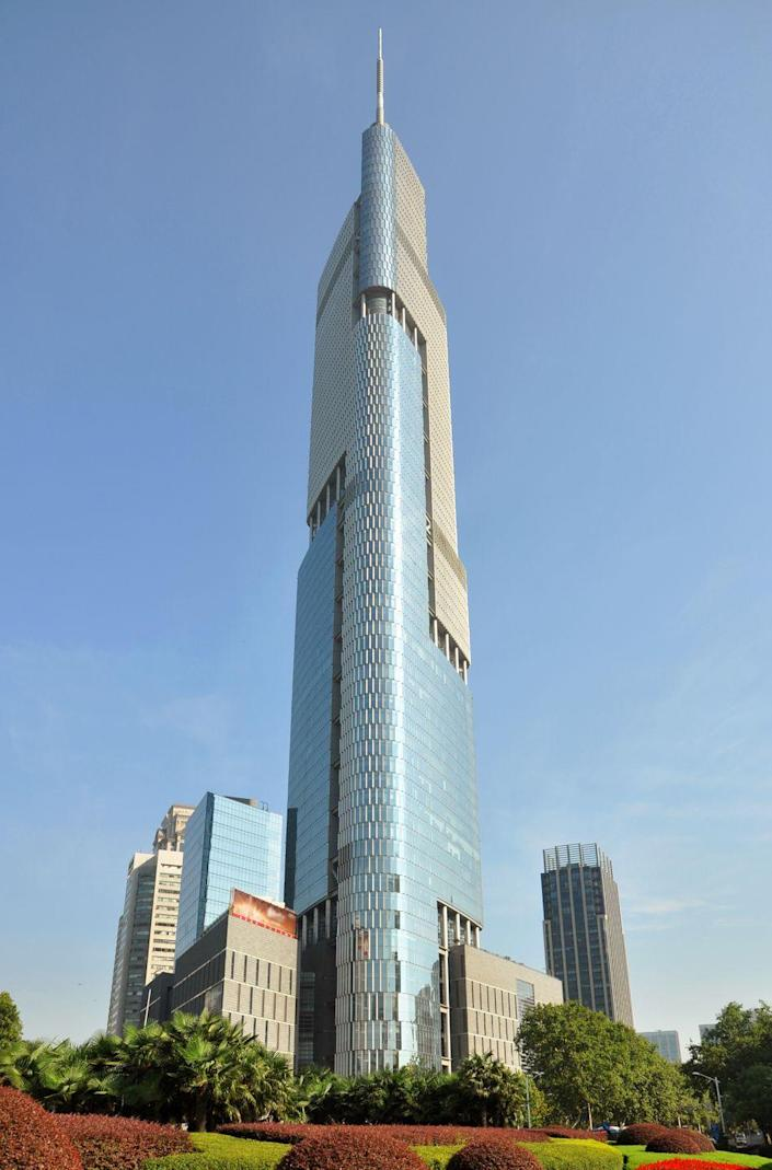 """<p><strong>Location:</strong> Nanjing, China</p><p><strong>Height:</strong> 1,476 feet</p><p><strong>Completion Date:</strong> 2010</p><p>Zifeng was designed by Adrian Smith + Gordon Gill Architecture, the firm behind the Burj Khalifa, and the resemblances are easy to spot. Here, the cutaway look is meant to mimic a dragon wrapping around the structure. Another neat detail Safarik noticed during his visit is that many windows pop out several degrees, a little like those tiny smoking windows found in the back seat of older cars. """"It's pretty rare you can open windows in a building that tall,"""" Safarik says.</p><p><em><strong>Honorable mention:</strong> The Suzhou International Financial Square (IFS) in Jiangsu, China is also 1,476 feet tall.</em></p>"""