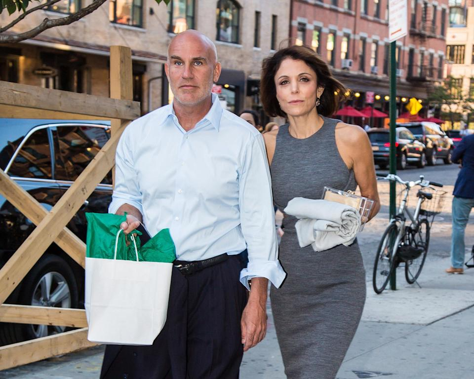 Dennis Shields and Bethenny Frankel pictured together in New York City in 2016.