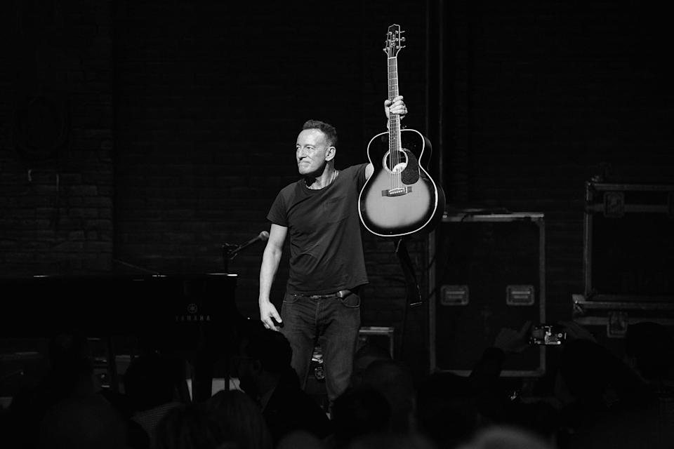 """<p>Bruce Springsteen's 2018 Broadway residency is captured on film, with his unique storytelling and performances of his hit songs.</p> <p><a href=""""http://www.netflix.com/title/80232329"""" class=""""link rapid-noclick-resp"""" rel=""""nofollow noopener"""" target=""""_blank"""" data-ylk=""""slk:Watch Springsteen on Broadway on Netflix"""">Watch <strong>Springsteen on Broadway</strong> on Netflix</a>.</p>"""