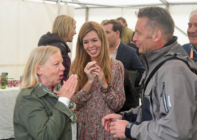 Ms Symonds chats to Deborah Meaden and wildlife expert Chris Packham (Getty Images)