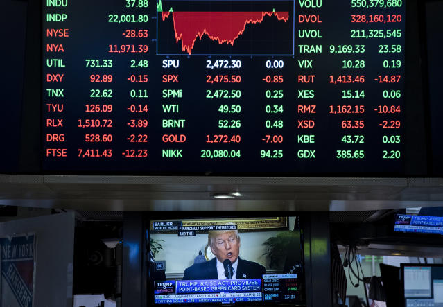 President Trump thinks the stock market rally is about him. (Drew Angerer/Getty Images)