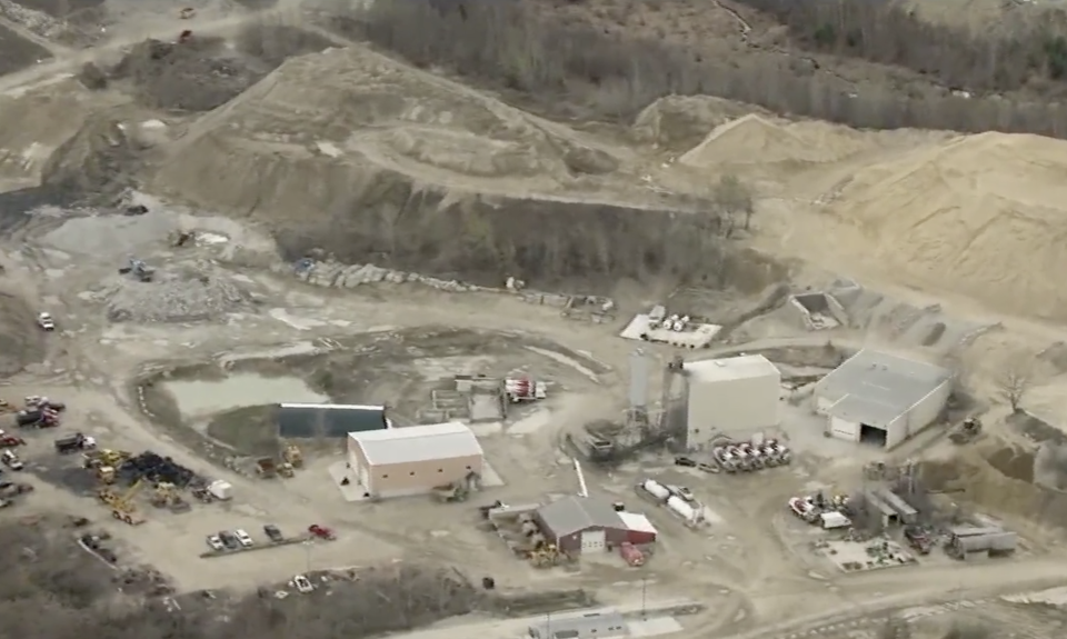 The family had gathered for the gender reveal at this quarry. Source: CBS Boston