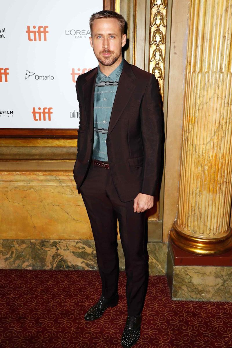 """Ryan Gosling at the premiere of """"First Man"""" during Toronto Film Festival on September 10th."""