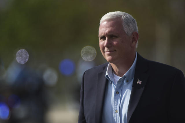 U.S. Vice President Mike Pence said he left the Colts game on Sunday over anthem protests by players. (AP)