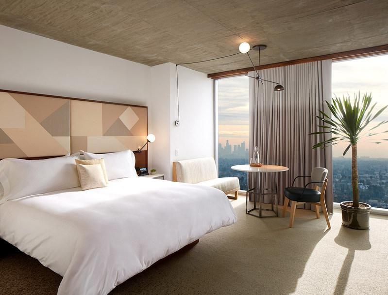 Set into the Hollywood Hills The Jeremy Hotel offers stunning views. Photo: Supplied