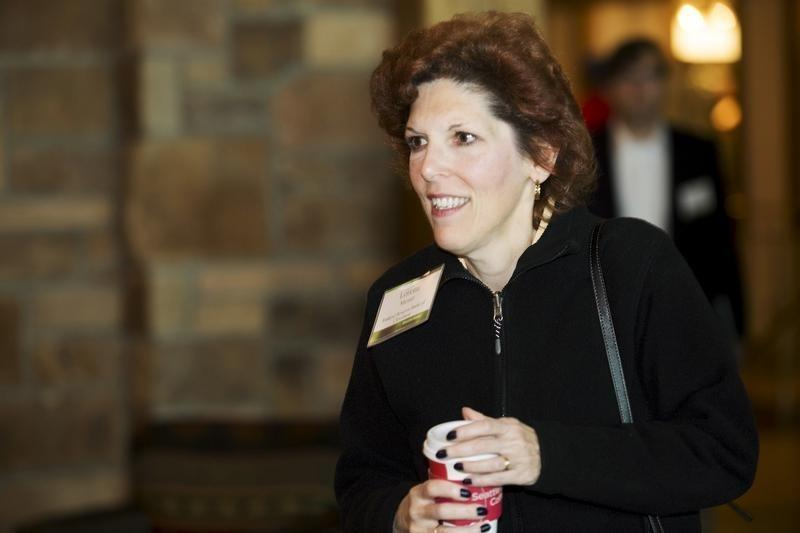 Federal Reserve Bank of Cleveland President and Chief Executive Officer Mester is seen during the Federal Reserve Bank of Kansas City's annual Jackson Hole Economic Policy Symposium in Jackson Hole