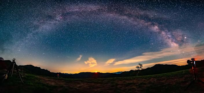 The eye of the Milky Way in lingshan, China, May 28, 2019.PHOTOGRAPH BY Costfoto / Barcroft Media (Photo credit should read Costfoto / Barcroft Media / Barcroft Media via Getty Images)