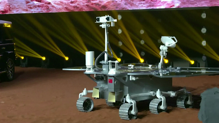 A model of the rover shows it to have a similar look to Nasa's Spirit and Opportunity vehicles