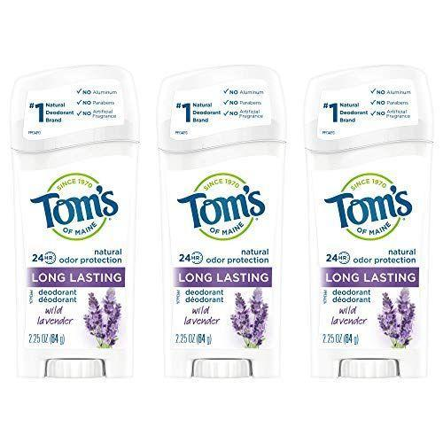 """<p><strong>Tom's of Maine</strong></p><p>amazon.com</p><p><strong>$13.47</strong></p><p><a href=""""https://www.amazon.com/dp/B07Y38C6SN?tag=syn-yahoo-20&ascsubtag=%5Bartid%7C10056.g.36801416%5Bsrc%7Cyahoo-us"""" rel=""""nofollow noopener"""" target=""""_blank"""" data-ylk=""""slk:Shop Now"""" class=""""link rapid-noclick-resp"""">Shop Now</a></p><p>Unless you've been biologically gifted, deodorant is something that you can always stock up on. </p><p>While most clean deodorants can get a bit pricey, this aluminum-free, aloe-infused pack of three clean deodorant sticks is 25 percent off right now, making it the perfect time to stock up on this cult-favorite deo.</p>"""